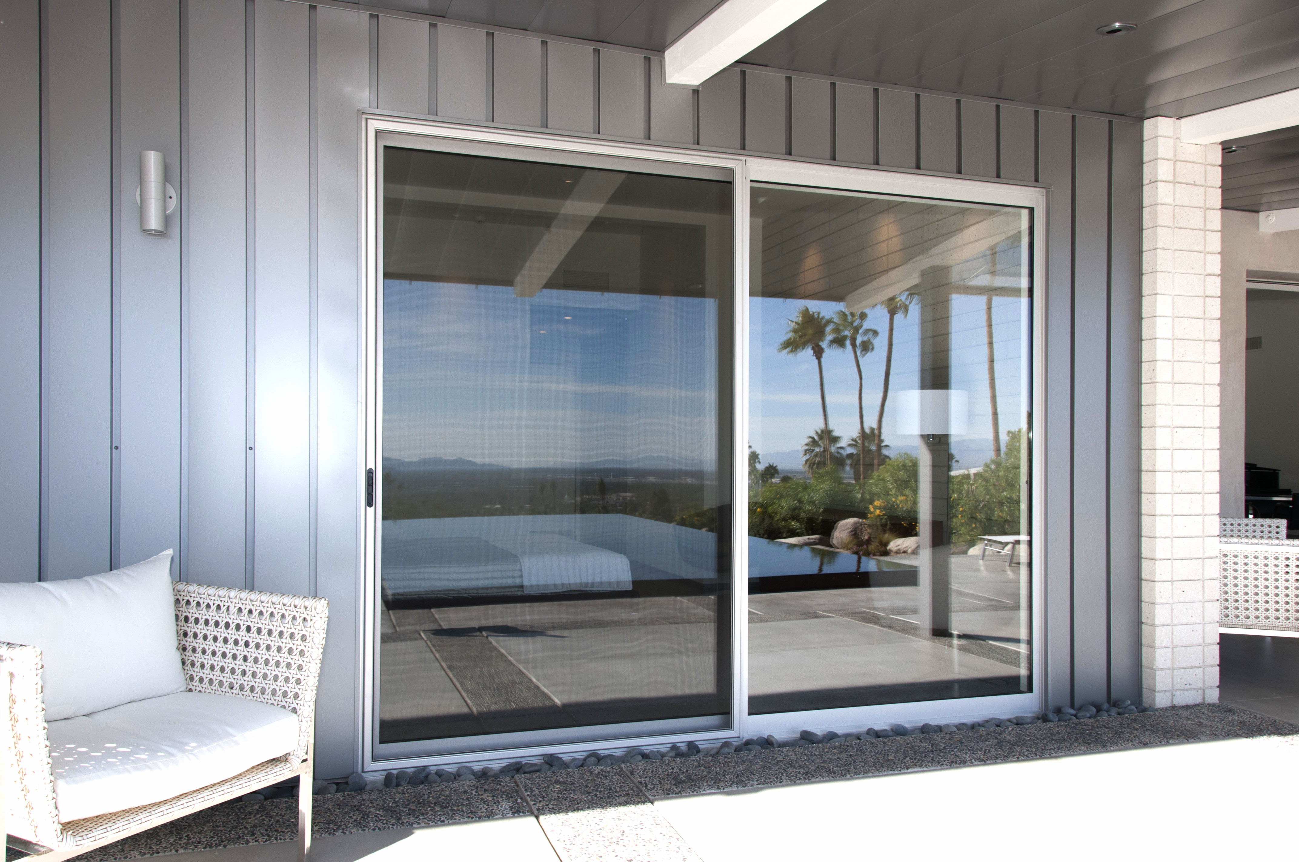 Mirrored Sliding Doors Create Beautiful Light Effects Inexpensively